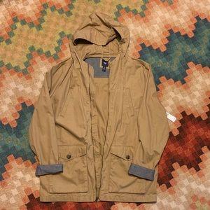 NWT GAP Hooded Jacket Tan XL